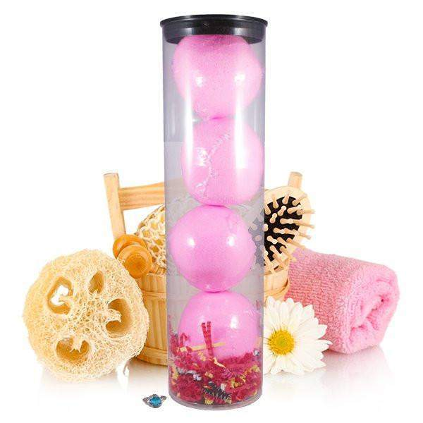 Flirty Little Secret 4 Pack Jewelry Bath Bombs Tube-Jewelry Candles Bath & Body-The Official Website of Jewelry Candles - Find Jewelry In Candles!
