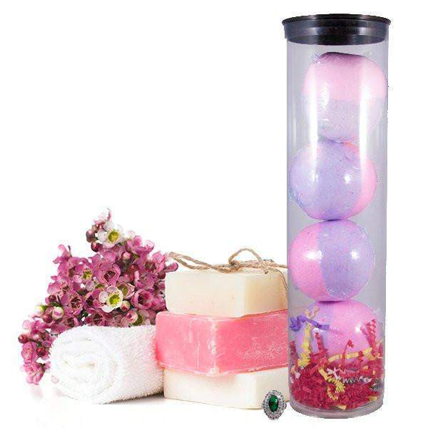 Bombshell 4 Pack Jewelry Bath Bombs Tube-Jewelry Candles Bath & Body-The Official Website of Jewelry Candles - Find Jewelry In Candles!
