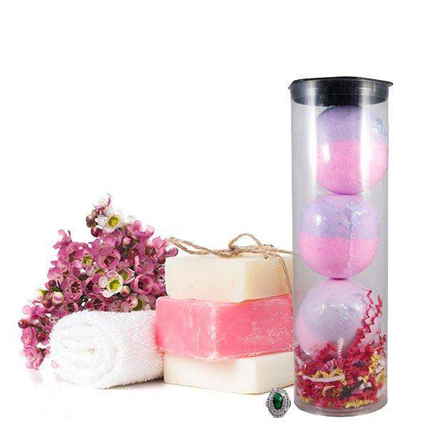 Bombshell 3 Pack Jewelry Bath Bombs Tube-Jewelry Candles Bath & Body-The Official Website of Jewelry Candles - Find Jewelry In Candles!