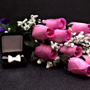 Lavender Wax Dipped Roses Bouquet-Wax Dipped Roses-The Official Website of Jewelry Candles - Find Jewelry In Candles!