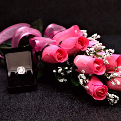 Scented Pink Wax Dipped Roses-Wax Dipped Roses-The Official Website of Jewelry Candles - Find Jewelry In Candles!