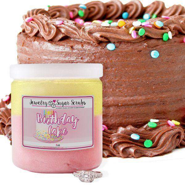 Birthday Cake Jewelry Sugar Scrub-The Official Website of Jewelry Candles - Find Jewelry In Candles!