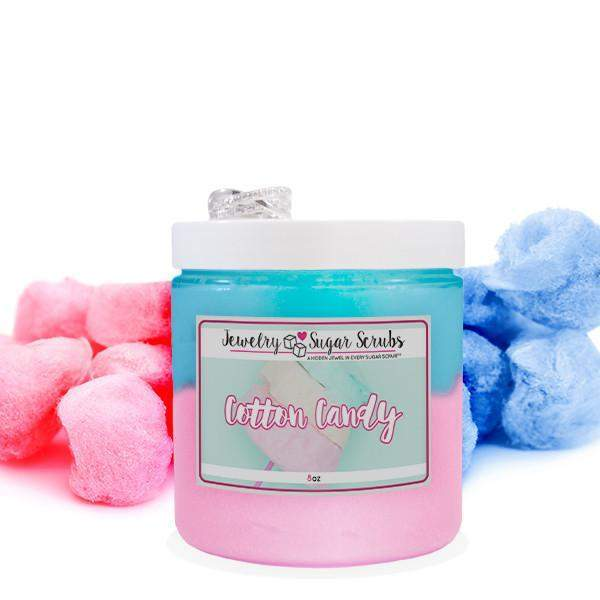 Cotton Candy 5 Pack Sugar Scrub Bundle-Jewelry Candles Bath & Body-The Official Website of Jewelry Candles - Find Jewelry In Candles!