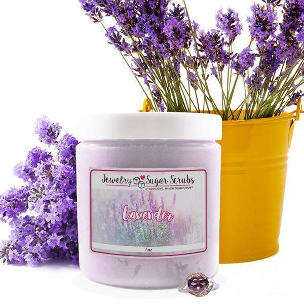 Lavender Jewelry Sugar Scrub-The Official Website of Jewelry Candles - Find Jewelry In Candles!