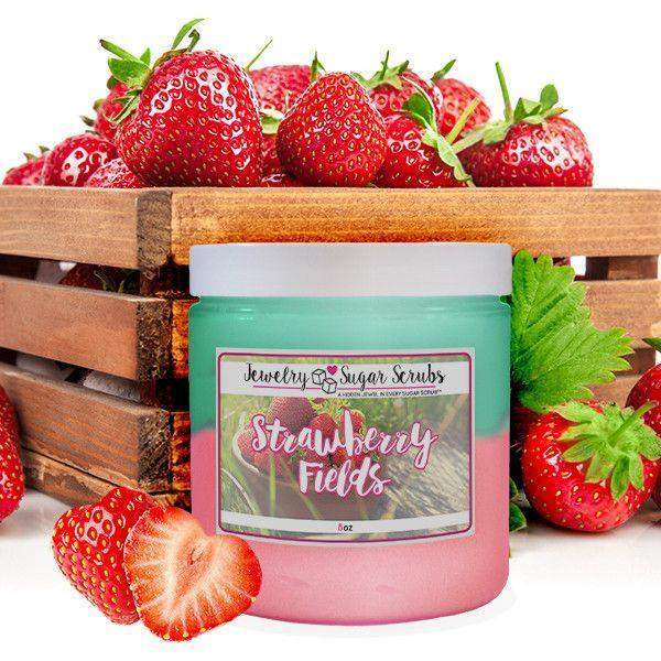 Strawberry Fields 5 Pack Sugar Scrub Bundle-Jewelry Candles Bath & Body-The Official Website of Jewelry Candles - Find Jewelry In Candles!