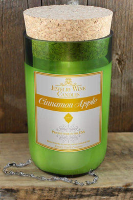 Cinnamon Apple Jewelry Wine Candle-Jewelry Wine Candles-The Official Website of Jewelry Candles - Find Jewelry In Candles!