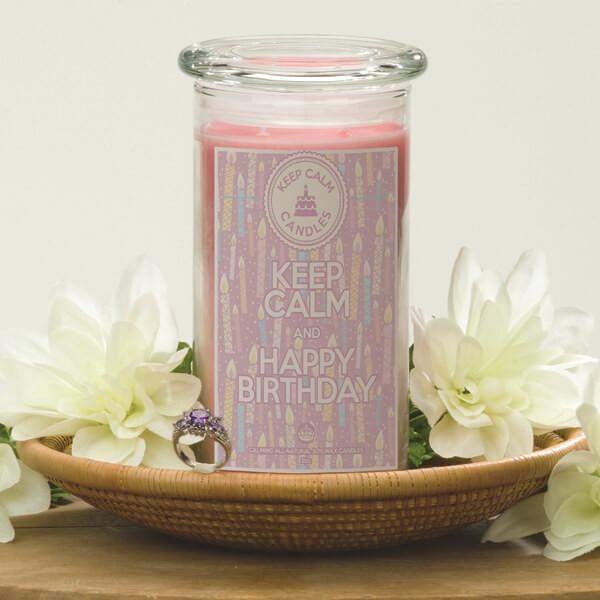 Keep Calm and Happy Birthday - Keep Calm Candles-Keep Calm Candles-The Official Website of Jewelry Candles - Find Jewelry In Candles!
