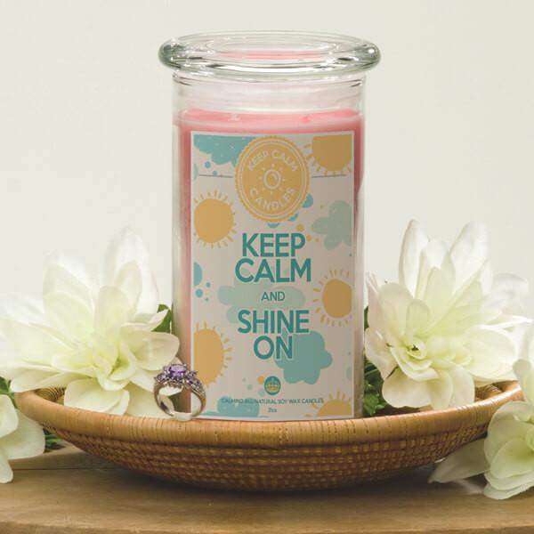 Keep Calm and Shine On - Keep Calm Candles-Keep Calm Candles-The Official Website of Jewelry Candles - Find Jewelry In Candles!
