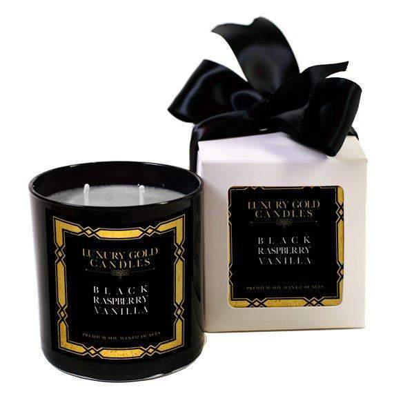 Black Raspberry Vanilla Luxury Gold Candles-Luxury Gold Candle-The Official Website of Jewelry Candles - Find Jewelry In Candles!
