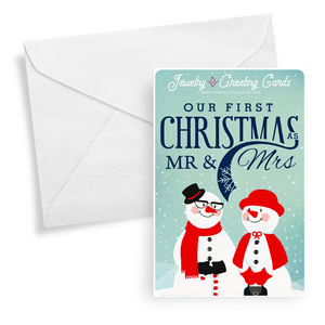 Our First Christmas As Mr. & Mrs. | Jewelry Greeting Cards®-Jewelry Greeting Cards-The Official Website of Jewelry Candles - Find Jewelry In Candles!