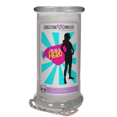 You Are My Hero | Jewelry Greeting Candles-You Are My Hero Jewelry Greeting Candle-The Official Website of Jewelry Candles - Find Jewelry In Candles!