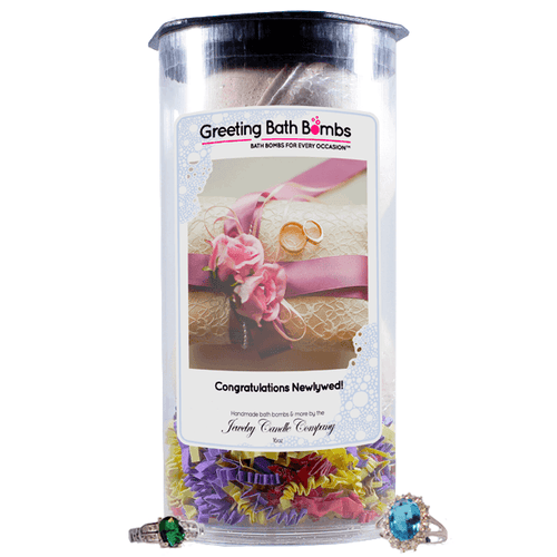Congratulations Newlyweds! | Greeting Bath Bombs®-Jewelry Bath Bombs-The Official Website of Jewelry Candles - Find Jewelry In Candles!