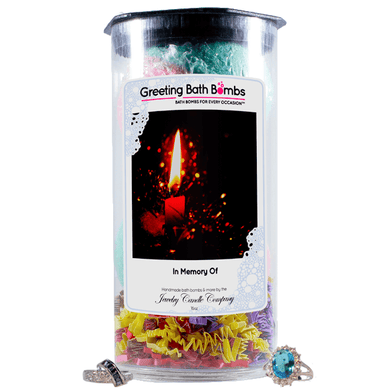 In Memory Of | Greeting Bath Bombs®-Jewelry Bath Bombs-The Official Website of Jewelry Candles - Find Jewelry In Candles!