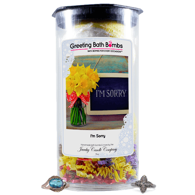 I'm sorry | Greeting Bath Bombs®-Jewelry Bath Bombs-The Official Website of Jewelry Candles - Find Jewelry In Candles!
