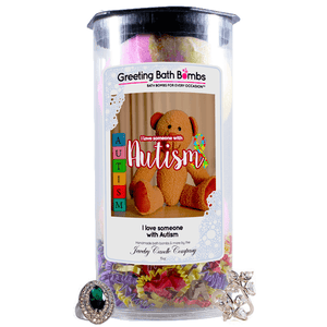 I love someone with Autism | Greeting Bath Bombs®-Jewelry Bath Bombs-The Official Website of Jewelry Candles - Find Jewelry In Candles!
