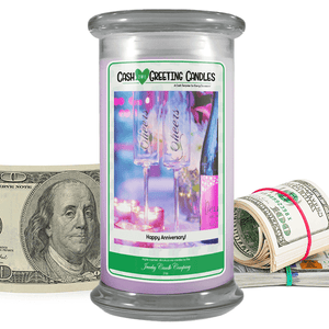 Happy Anniversary! | Cash Greeting Candle-Cash Greeting Candles-The Official Website of Jewelry Candles - Find Jewelry In Candles!