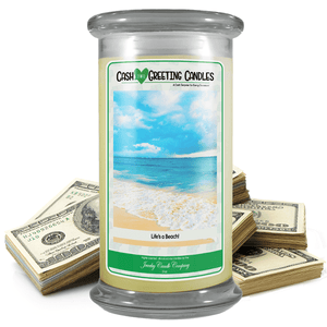Life's A Beach! | Cash Greeting Candle-Cash Greeting Candles-The Official Website of Jewelry Candles - Find Jewelry In Candles!