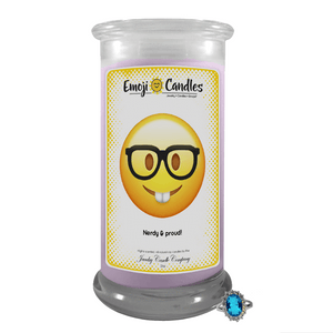 Nerdy & proud! | Emoji Candle®-Emoji Candles-The Official Website of Jewelry Candles - Find Jewelry In Candles!