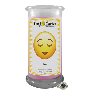 Phew! | Emoji Candle®-Emoji Candles-The Official Website of Jewelry Candles - Find Jewelry In Candles!