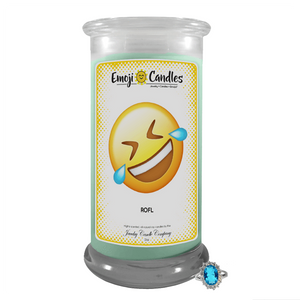 ROFL | Emoji Candle®-Emoji Candles-The Official Website of Jewelry Candles - Find Jewelry In Candles!