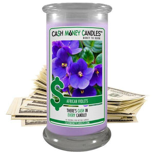African Violets | Cash Money Candle®-Cash Money Candle-The Official Website of Jewelry Candles - Find Jewelry In Candles!