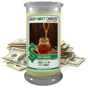 Honey Cinnamon | Cash Money Candle®-Cash Money Candle-The Official Website of Jewelry Candles - Find Jewelry In Candles!