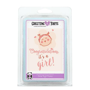 Congratulations, It's A Girl! | Greeting Tart-Greeting Tarts-The Official Website of Jewelry Candles - Find Jewelry In Candles!