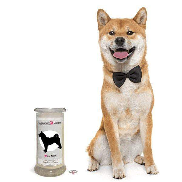 I Love My Akita! - Companion Candles - Pet Lover Gifts-Companion Candles-The Official Website of Jewelry Candles - Find Jewelry In Candles!