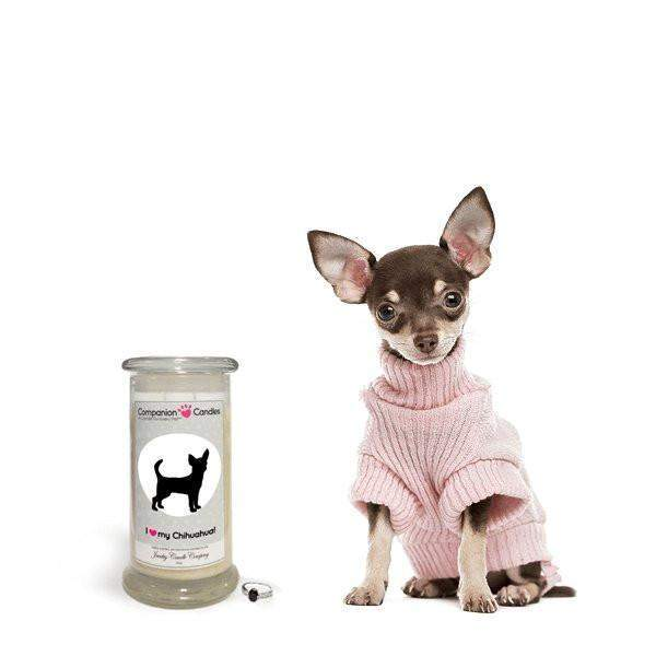 I Love My Chihuahua! - Companion Candles-Companion Candles-The Official Website of Jewelry Candles - Find Jewelry In Candles!