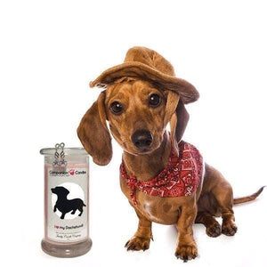 I Love My Dachshund! - Companion Candles-Companion Candles-The Official Website of Jewelry Candles - Find Jewelry In Candles!