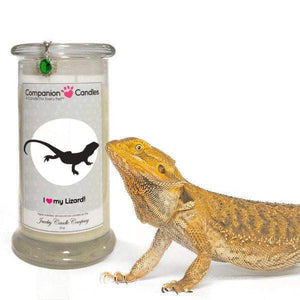 I Love My Lizard! - Companion Candles-Companion Candles-The Official Website of Jewelry Candles - Find Jewelry In Candles!