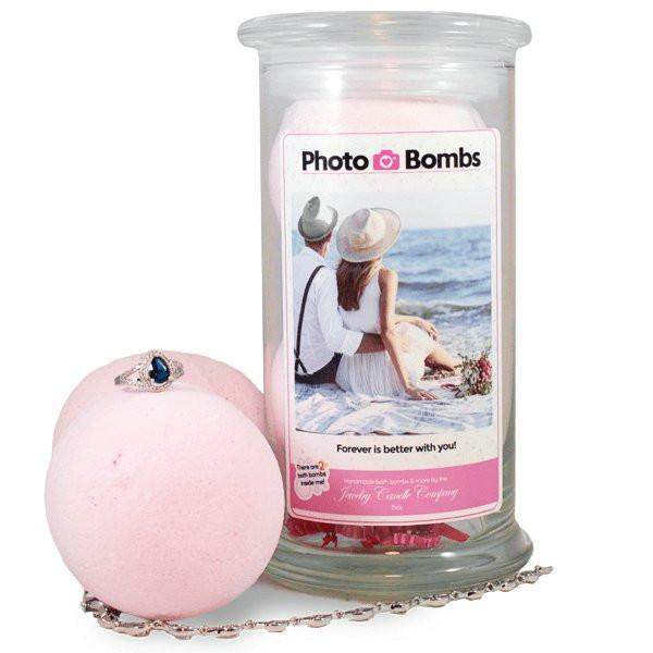 Photo Bombs - Your Photo On A Jar Of Jewelry Bath Bombs! Personalize It!-Jewelry Bath Bombs-The Official Website of Jewelry Candles - Find Jewelry In Candles!