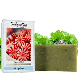 Peppermint Swirl | Jewelry Soap-Jewelry Soaps-The Official Website of Jewelry Candles - Find Jewelry In Candles!