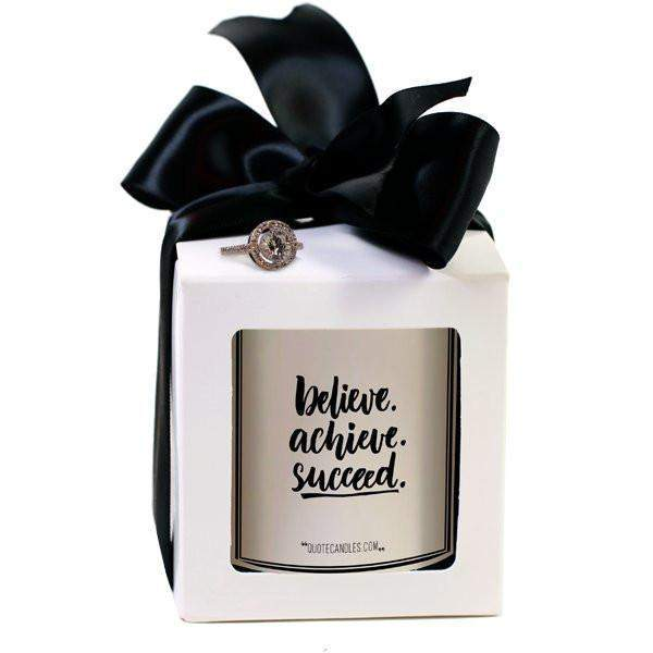 Believe. Achieve. Succeed. | Quote Candles®-The Official Website of Jewelry Candles - Find Jewelry In Candles!