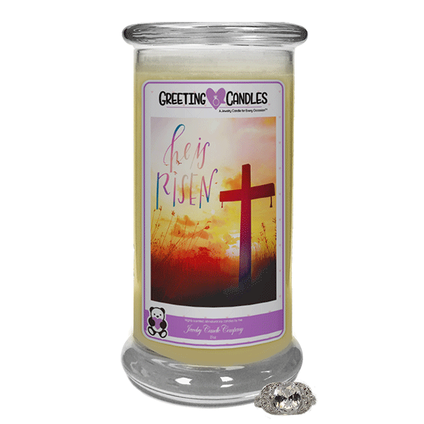 He Is Risen - Jewelry Greeting Candles - Jewelry Candles | A Hidden Jewel Inside Every Candle™