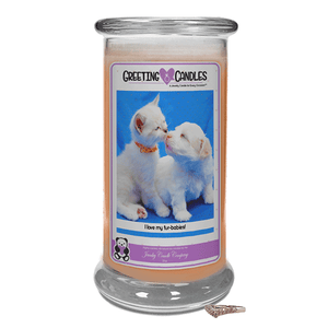 I Love My Fur-Babies! | Jewelry Greeting Candles-Congratulations Graduate Jewelry Greeting Candle-The Official Website of Jewelry Candles - Find Jewelry In Candles!