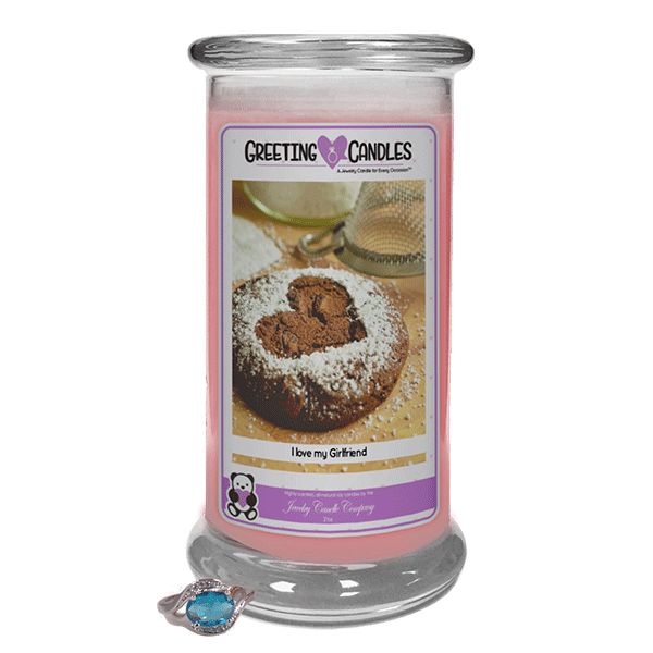 I Love My Girlfriend - Jewelry Greeting Candles-I Love My Girlfriend Jewelry Greeting Candle-The Official Website of Jewelry Candles - Find Jewelry In Candles!