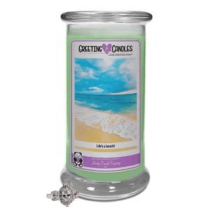 Life's A Beach! | Jewelry Greeting Candles-Jewel Candles-The Official Website of Jewelry Candles - Find Jewelry In Candles!