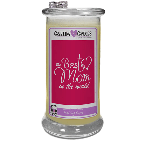 Best Mom In The World! - Jewelry Greeting Candles-Best Mom In the World! Jewelry Greeting Candle-The Official Website of Jewelry Candles - Find Jewelry In Candles!