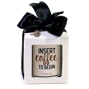 Insert Coffee To Begin | Quote Candles®-The Official Website of Jewelry Candles - Find Jewelry In Candles!