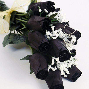 Black Half Dozen Wax Dipped Roses-Create Your Own Dozen Roses-The Official Website of Jewelry Candles - Find Jewelry In Candles!
