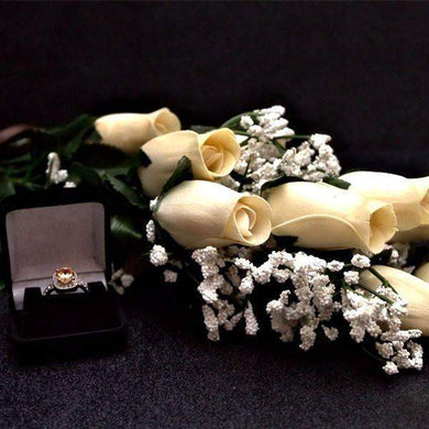 Cream Half Dozen Wax Dipped Roses-Create Your Own Dozen Roses-The Official Website of Jewelry Candles - Find Jewelry In Candles!