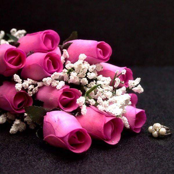 Lavender Half Dozen Wax Dipped Roses-Create Your Own Dozen Roses-The Official Website of Jewelry Candles - Find Jewelry In Candles!