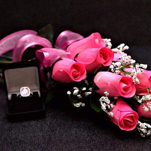 Pink Half Dozen Wax Dipped Roses-Create Your Own Dozen Roses-The Official Website of Jewelry Candles - Find Jewelry In Candles!