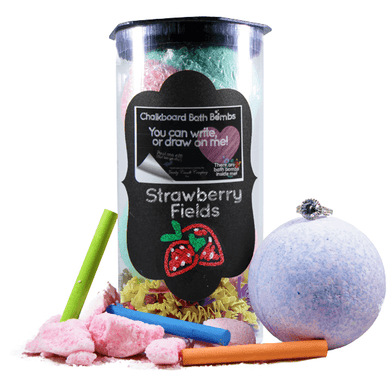 Strawberry Fields | Jewelry Chalkboard Bath Bombs-Chalkboard Bath Bombs-The Official Website of Jewelry Candles - Find Jewelry In Candles!
