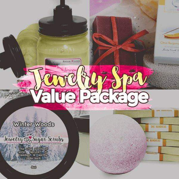 Create Your Own Jewelry Bath & Body Spa Bundle-Jewelry Candles Bath & Body-The Official Website of Jewelry Candles - Find Jewelry In Candles!