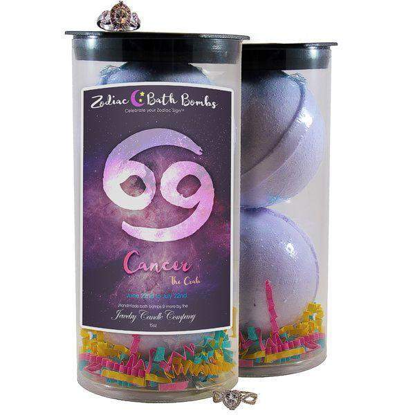 Cancer Zodiac Jewelry Bath Bombs-Jewelry Bath Bombs-The Official Website of Jewelry Candles - Find Jewelry In Candles!
