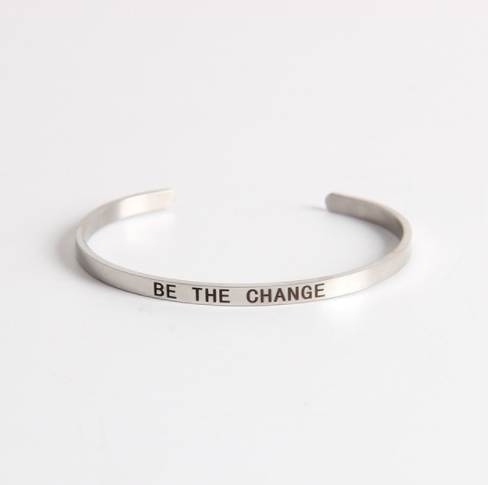 Be The Change Stainless Steel Cuff Bracelet-The Official Website of Jewelry Candles - Find Jewelry In Candles!