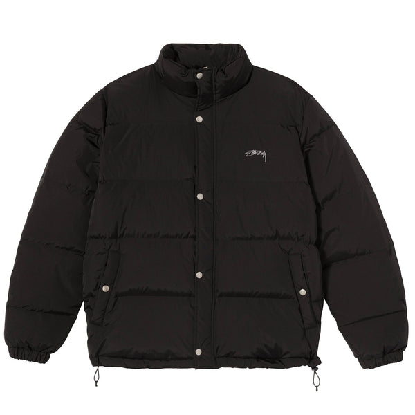 SOLID PUFFER JACKET - BLACK