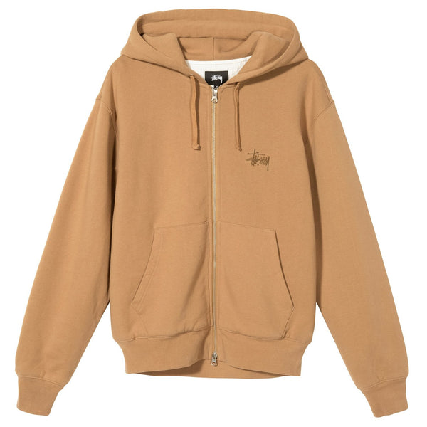 THERMAL ZIP HOODIE - TAN